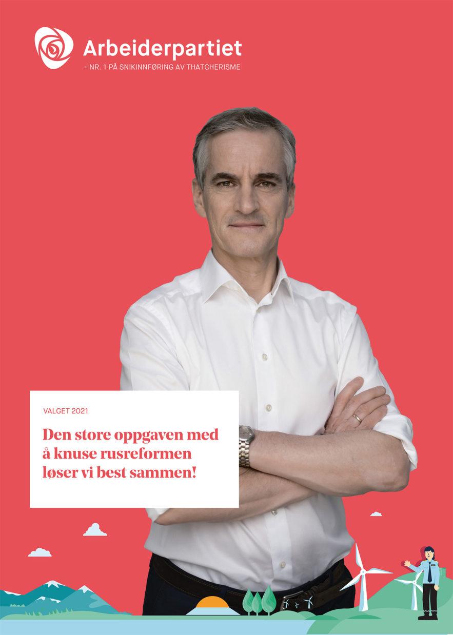 forbedret valgkamp-plakat for Ap